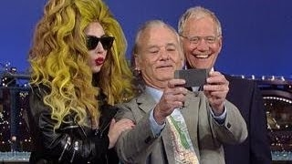 David Letterman - Lady Gaga, Bill Murray and Dave Take A Selfie