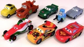 Cars 2 Collectible Erasers 8-pack Disney Pixar Luigi, Guido, Mater, Lightning Mcqueen, Miguel Camino peachtree Cars2 Erasers