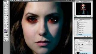 Nina Dobrev as a vampire (photoshop)