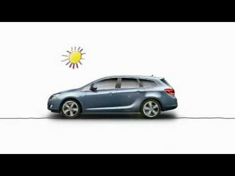 Смотреть онлайн New Opel Astra J Sports Tourer- Comic Animation