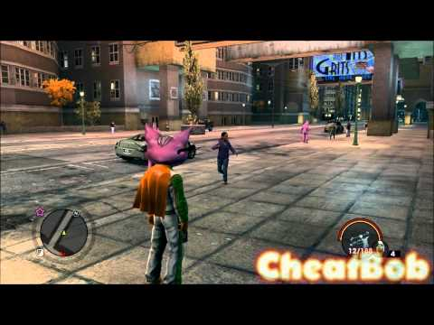 Смотреть онлайн Saints Row the Third : TONS OF NEW CHEATS! (weapons pack, invincible car, no notorieties...)
