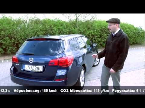 Смотреть онлайн Opel Astra Sports Tourer 1.6 Enjoy teszt